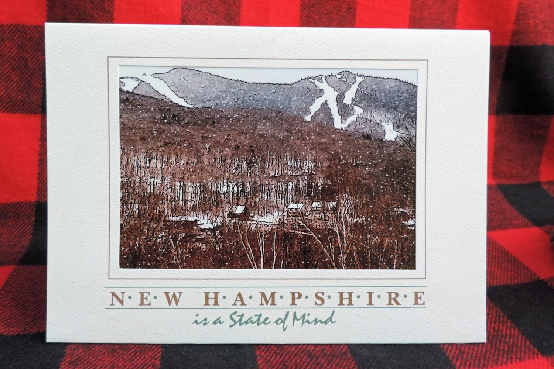 New hampshire greeting card loon mountain ski