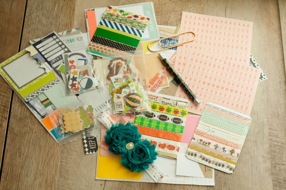 Thanksgiving Planner Kit, Washi Tape Samples, List Pages, Stickers