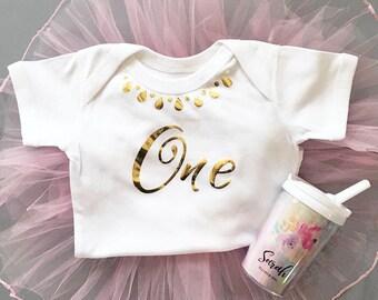 First Birthday Baby Bodysuit