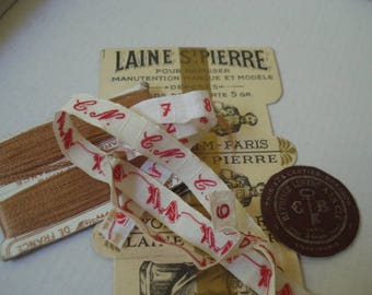 Sewing Collectables # French cards # Linen Markers# Fleamarketbuzz