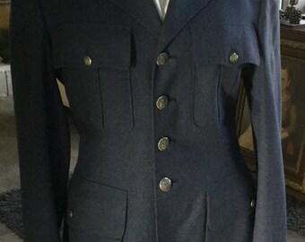 60's Men's Navy Blue Suit Coat and Flat Front Pants