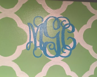 11X14 Painted Monogram Canvas