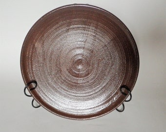 Brown Stoneware Platter