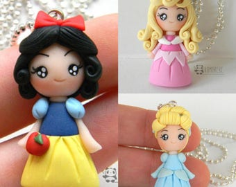 White Snow, Aurore, Cinderella inspired Necklace