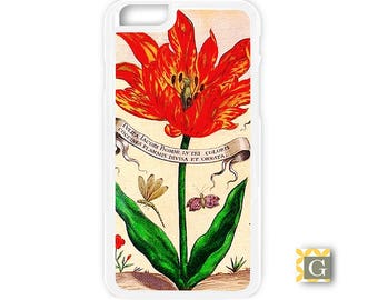 Galaxy S8 Case, S8 Plus Case, Galaxy S7 Case, Galaxy S7 Edge Case, Galaxy Note 5 Case, Galaxy S6 Case - Red Tulip