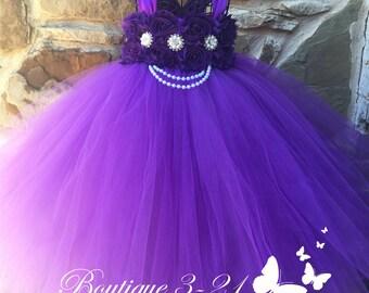 On Sale! Purple Dress, Purple Flower Girl Dress, Purple Tutu Dress, Purple Tulle Dress, Purple Dress, Purple Wedding