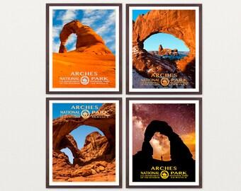 Arches National Park Poster - Arches Art - Utah - WPA Poster - WPA Art - WPA - National Park Poster - Arches Poster - wpa Arches - Utah Art