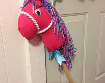 Stick horse, hobby horse, childs horse, ride-on toy, stick pony, stick horse toy, toy horse, broomstick horse, pony, play horse,