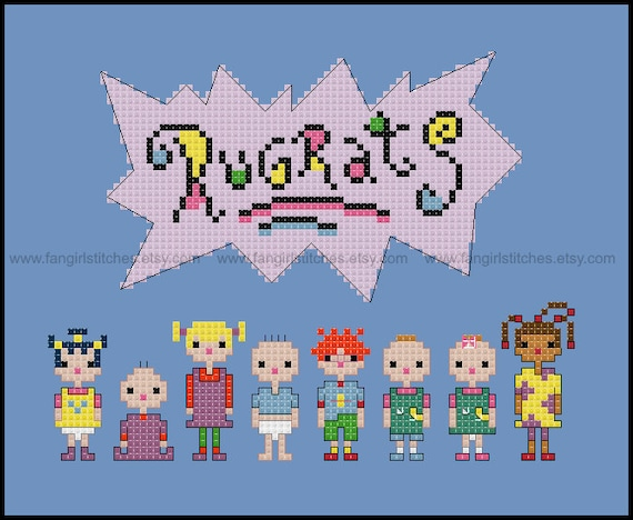 Rugrats Cross Stitch Pdf Pattern Instant Download From