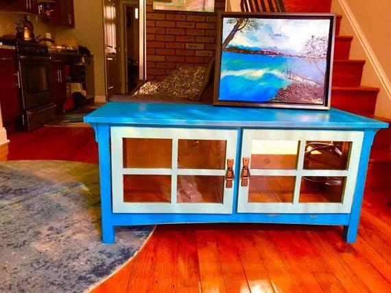 Provincial Blue Tv Stand