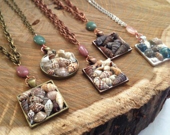 Jesi Sells Seashells // Resin Seashell Necklaces (5 variations)