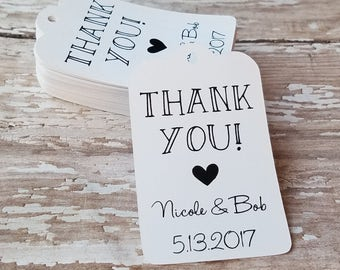Thank You Tag, Wedding Favor Tag, Chalkboard Style Tag, Wedding Tag, Gift Tag, Bridal Shower Tag, Pencil Save the Date (038)