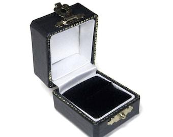Antique Style Black Engagement Ring Box