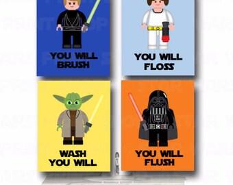 lego star wars bathroom wall art jedi mind trick bathroom rules kidu0027s wall