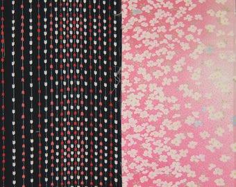 Vintage kimono silk fabric 2 pcs #7446