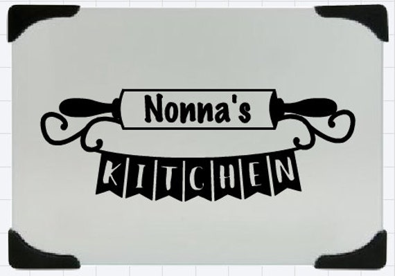 Nonna's cutting board, Nonna's kitchen glass cutting board, baker's rolling pin, Grandma Kitchen, Nana's Kitchen, personalized cutting board