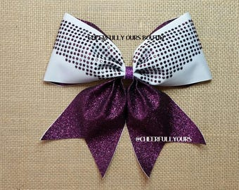 Best and Trending Customized Unique Glitter Sparkle Cheer Bows by CHEERFULLY OURS BOUTIQ