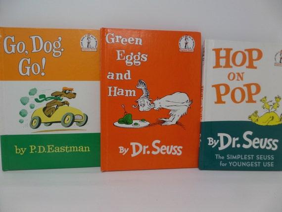 Dr. Seuss / P.D.Eastman lote 3  va perro va salto por CellarDeals