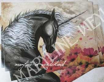 card mailing black Unicorn