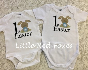 My first Easter onesie, My first easter bodysuit, Personalised easter, easter bunny body suit