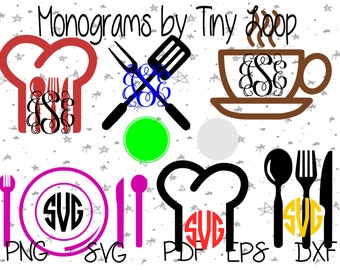 Monogram Kitchen File for Cutting Machine Instant Download