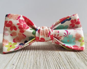 Adjustable Bowtie;Pink;Floral;Wedding Accessories;Tie;Menswear;Boy's Neckties;Ring bearer;Groomsmen; Easter;Baby;Spring; Accessories; Bow