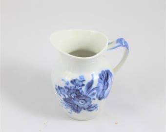 Vintage small Royal Copenhagen Denmark blue and white pitcher, china cream pitcher, cottage dishware, cottage décor