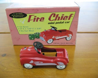 Miniature Fire Chief Pedal Car