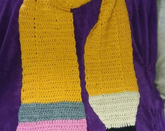 Crochet Pencil Scarf