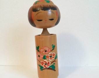 Vintage Kokeshi Doll, Lovely doll, Made in Japan