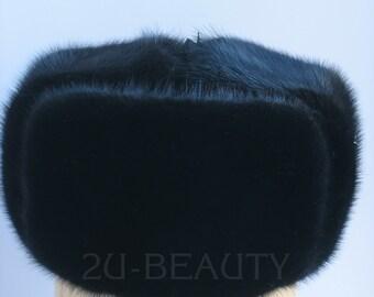 Custom dad hat Fur hat men Ushanka Russian fur hat Military russian hat made  RUSSIA  Hat men Winter Hats Super Trapper Hat Hat soviet mens.