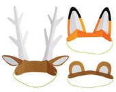 Animal Ears, Party Hats, Animal Ear Headband, Let's Explore, Camp Party, Adventure Party, Woodland Fox, Bear, Deer Antlers, Go Wild