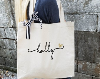 Bridesmaid Tote Bag, Personalized Bridesmaid Gift, Maid of Honor Totes, Bridal Party Bags (BR036) b1
