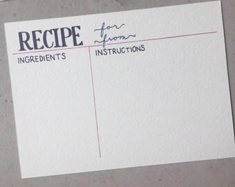 Hand Drawn Recipe Cards