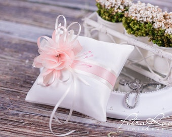 Ring pillow-ring pillow wedding ivory pink Bridal Accessories K8