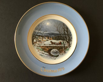 Vintage Avon 1979 Christmas Plate