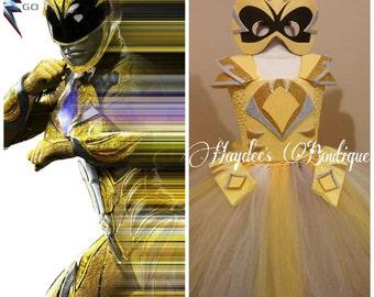 Power Rangers Yellow Ranger Tutu Dress