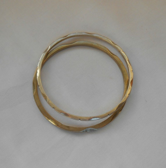Sterling Silver Bangle Bracelets Two Vintage Mexican Designs With Hallmarks