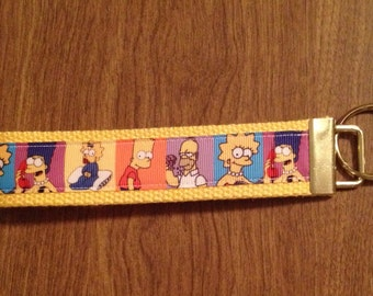 The Simpsons Wristlet Key Chain Zipper Pull