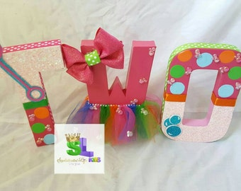 Bubble Bash Birthday Party decorated letters
