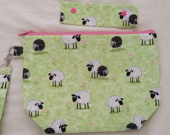Grazing Sheep Project Bag & Needle Keeper