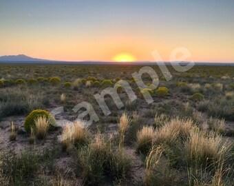 Desert sunset in New Mexico