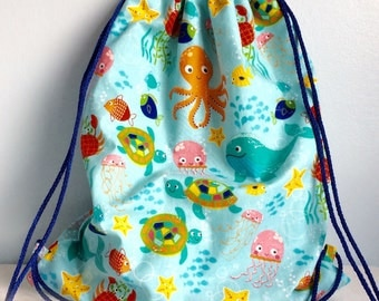 Draw String Backpack Swimming Bag Beach Bag Gym Bag
