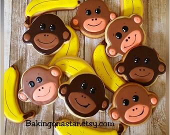 12 gourmet sugar cookies: bananas over you