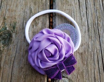 Hair Accessory, Girls Accessory, Flower Headband, Spring Flower, Flower Girl, Baby Headband, Rolled Rose Flower, Easter Flower, Photo Prop