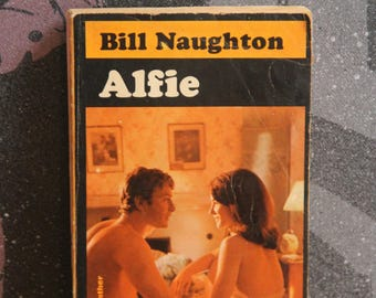 A striking  Panther paperback edition of Vintage Pop Culture Book Alfie by Bill Naughton 1966  Paperback