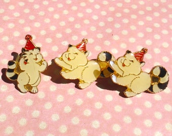 Vintage party cat pin