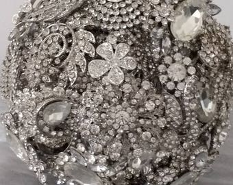 Beautiful Sparkling Bridal Bouquet....Brooch Bouquet
