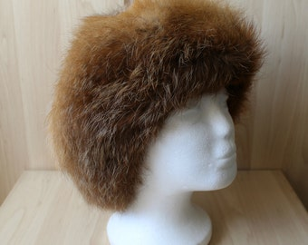 Vintage Real Red Fox Fur Hat H4
