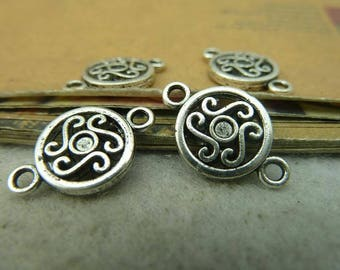20pcs 12x19mm antique silver connector, connection,pendant charm setting Jewelry findings link bC4159